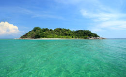 Isola tropicale, paradiso di fuga Fotografie Stock