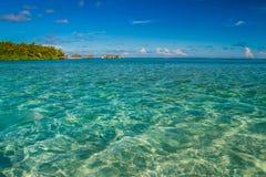 Isola tropicale perfetta, Maldive Fotografia Stock