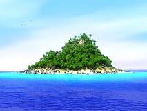 Isola tropicale persa Fotografia Stock Libera da Diritti