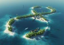 Isola tropicale sotto forma d'il segno di infinità Immagini Stock Libere da Diritti