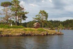 Isola Valaam sul lago Ladooga Immagine Stock