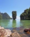 Isola-vaso in una laguna poco profonda Immagine Stock Libera da Diritti