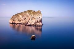 Isoladi Foradada, Capo Caccia royalty-vrije stock fotografie