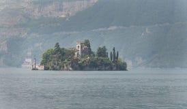 Isoladi Loreto Lake Iseo Italy Royalty-vrije Stock Foto