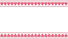 Isolado ajustado de corações pintados à mão da aquarela para o cartão do dia do ` s do Valentim ou o cartão romântico Com espaço  Imagem de Stock Royalty Free