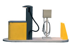 Isolado amarelo e preto do posto de gasolina no fundo branco Imagem de Stock