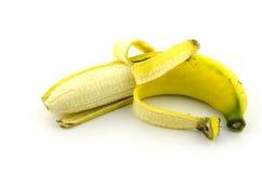 Isolado da banana com fundo branco Imagens de Stock Royalty Free