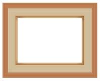 Isolado da moldura para retrato no fundo branco, illustra do vetor EPS10 Imagens de Stock