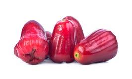 Isolado das maçãs de Rosa com fundo branco Imagem de Stock