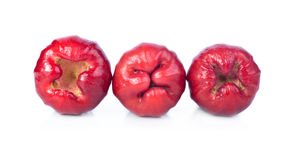 Isolado das maçãs de Rosa com fundo branco Fotografia de Stock