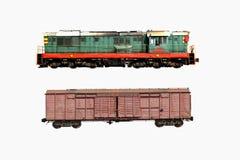 Isolado de dois trens em um branco Foto de Stock Royalty Free