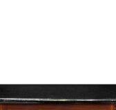 Isolado de mármore preto vazio do tampo da mesa no fundo branco, licença Fotografia de Stock Royalty Free