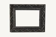 Isolado de prata ornamentado do frame imagens de stock royalty free