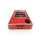 Isolado do botão do alarme de incêndio no fundo branco Imagens de Stock Royalty Free