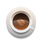Isolado do copo de café no fundo branco Foto de Stock