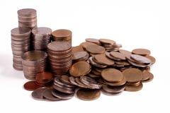 Isolado do dinheiro no fundo branco Imagem de Stock Royalty Free