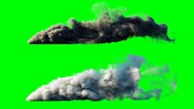 Isolado do foguete do lançamento Tela verde Animação 4K realística filme