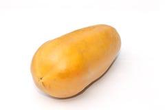 Isolado do fruto da papaia fotografia de stock