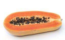 Isolado do fruto da papaia foto de stock