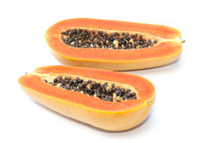 Isolado do fruto da papaia imagem de stock