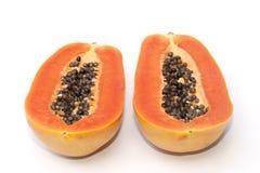Isolado do fruto da papaia fotos de stock royalty free