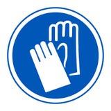 Isolado do sinal da proteção da mão do desgaste do símbolo no fundo branco, ilustração EPS do vetor 10 ilustração do vetor