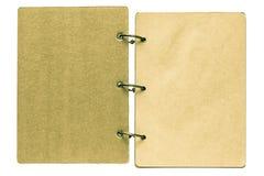 Isolado em um caderno aberto do fundo branco Imagens de Stock Royalty Free