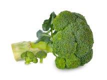 Isolado fresco dos brócolis no fundo branco imagem de stock