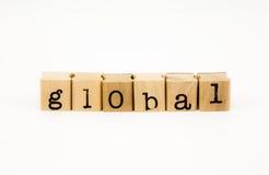 Isolado global do fraseio no fundo branco fotografia de stock