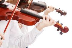Dueto do violino fotografia de stock royalty free