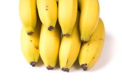 Isolado no fundo branco um o grupo de bananas orgânicas fotos de stock