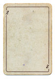 Isolado no papel velho branco do cartão de jogo com número dois Foto de Stock