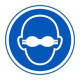 Isolado opaco do sinal da proteção ocular do desgaste do símbolo no fundo branco, ilustração EPS do vetor 10 ilustração do vetor