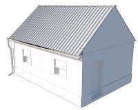 Isolado simples pequeno da casa no fundo branco foto de stock royalty free
