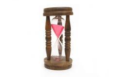 Isolado velho do hourglass no fundo branco fotografia de stock