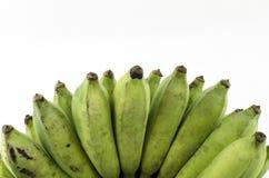 Isolado verde da banana com fundo branco Fotos de Stock