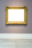 Isolador branco do projeto mínimo ornamentado da parede de Art Museum Frame Pale Blue fotografia de stock