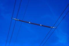 Isolador da linha elétrica Foto de Stock