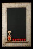 Isolador de Cat Chalkboard Reclaimed Wood Frame do amor dos Valentim do vintage Imagens de Stock
