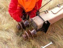 Isolador elétrico Fotografia de Stock
