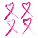 Isolamento cor-de-rosa da fita da conscientização do câncer da mama no branco Imagens de Stock Royalty Free