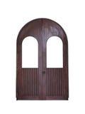 Isolamento de madeira arqueado da porta Imagens de Stock Royalty Free