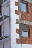 Isolamento della parete con il polistirolo Fotografie Stock Libere da Diritti