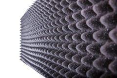 Isolamento di Microfiber per rumore nello studio di musica o in corridoio acustico immagini stock libere da diritti