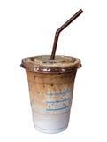 Isolamento do café do leite no branco Fotos de Stock