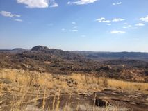 Isolamento em montes de Matobo, Zimbabwe Fotografia de Stock Royalty Free
