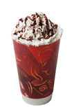 Isolamento freddo caldo crema montato della bevanda del caffè Fotografie Stock