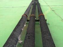 isolamento Tubo d'acciaio con calore Immagini Stock Libere da Diritti