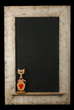 Isolant de Cat Chalkboard Reclaimed Wood Frame d'amour de valentines de vintage Photo libre de droits