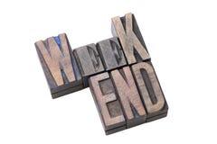 Isolant de mot de week-end photos stock